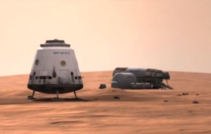 Udane lądowanie kapsuły Dragon na powierchni Marsa wpisuje się w dalekosiężne plany kolonizacji Czerwonej Planety. /materiały prasowe