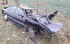 0007P1IP5GUY8BVH-C307 Uderzył w drzewo tak mocno, że z auta wypadł silnik