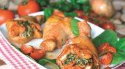 Udka kurczaka nadziewane szpinakiem