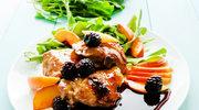 Udka z kurczaka z jeżynami