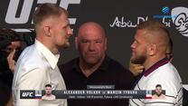 UFC 267. Marcin Tybura - Alexander Volkov twarzą w twarz. WIDEO (Polsat Sport)