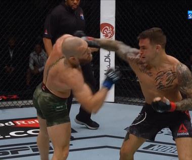 UFC. Conor McGregor - Dustin Poirier - skrót walki (POLSAT SPORT). WIDEO