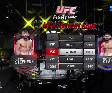 UFC: Mateusz Gamrot - Jeremy Stephens. Skrót walki (POLSAT SPORT) Wideo