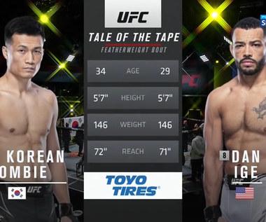UFC. The Korean Zombie - Dan Ige. Skrót walki