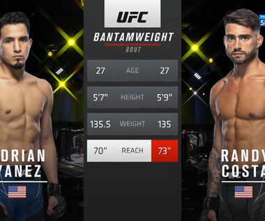UFC Vegas 32. UFC Adrian Yanez - Randy Costa. Skrót walki (POLSAT SPORT). Wideo