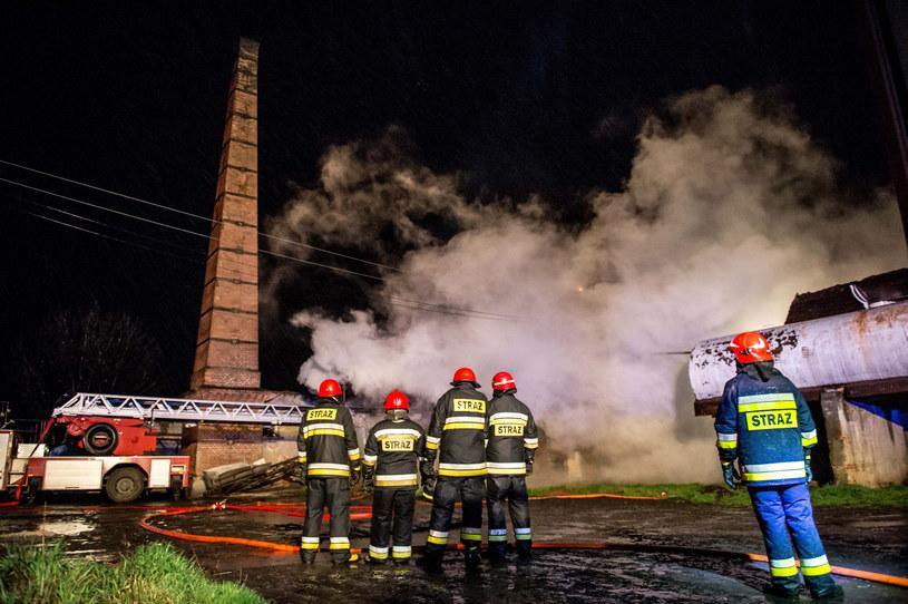 Ugaszono pożar w gorzelni w Radzikowie /Maciej Kulczyński /PAP
