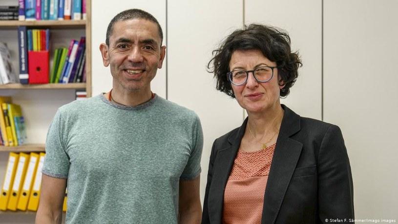 Ugur Sahin (L) i Özlem Türeci /Deutsche Welle