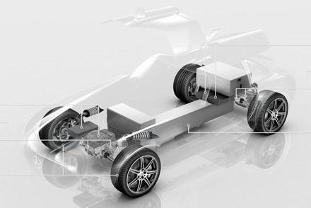 Układ napędowy elektrycznego SLS-a AMG /