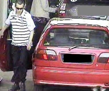 Ukradł paliwo i przejechał po nodze. Na zdjęciu sprawca i jego nissan