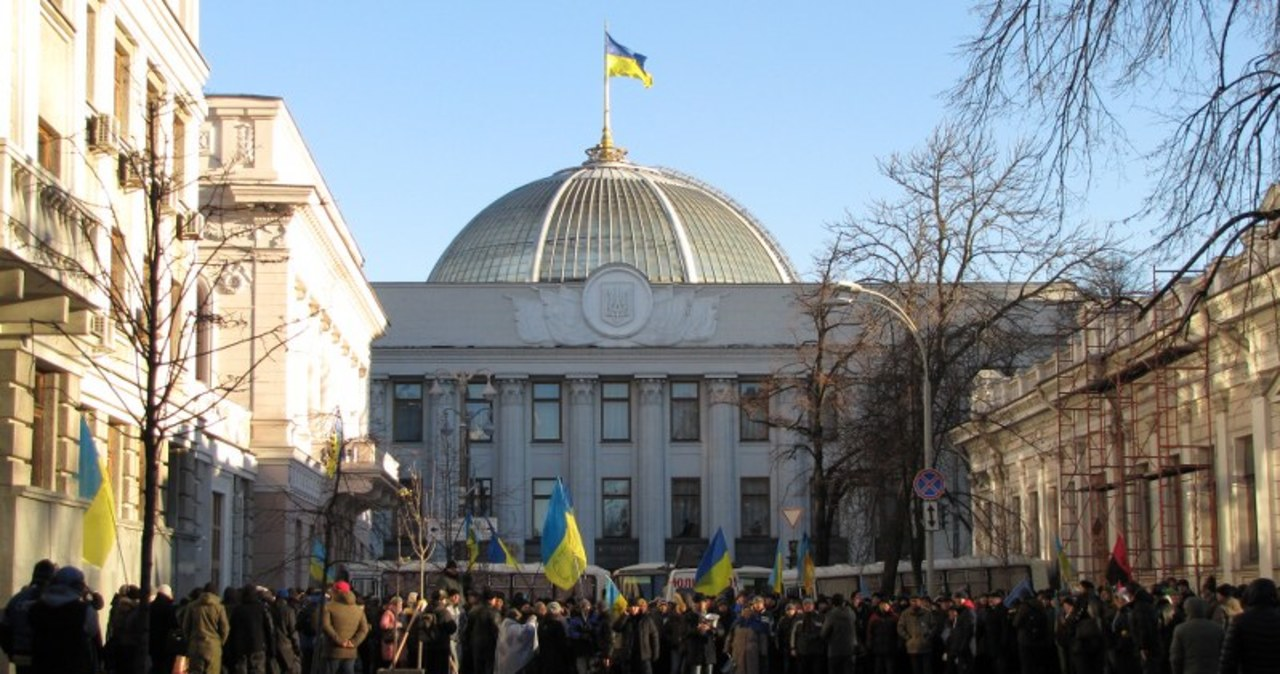 Ukraina: Blokada wokół parlamentu