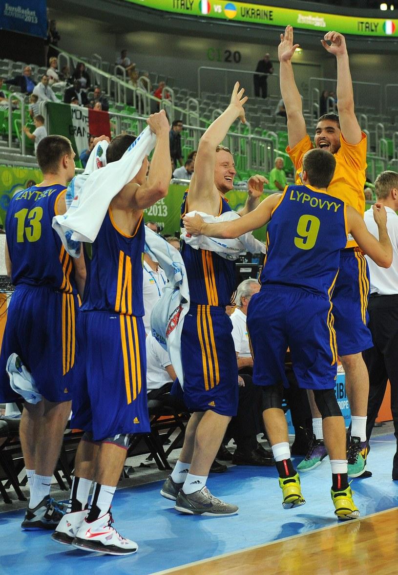 Ukraińcy cieszą się z wygranej /AFP