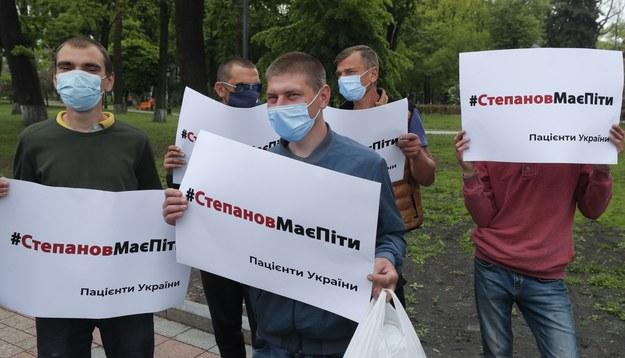 Ukraińcy domagający się odejścia Stepanowa /SERGEY DOLZHENKO /PAP/EPA