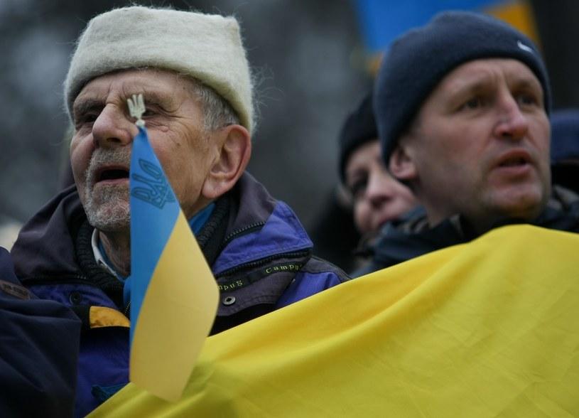 Ukraińcy liczą na solidarność Polaków /Michał Dyjuk /Reporter