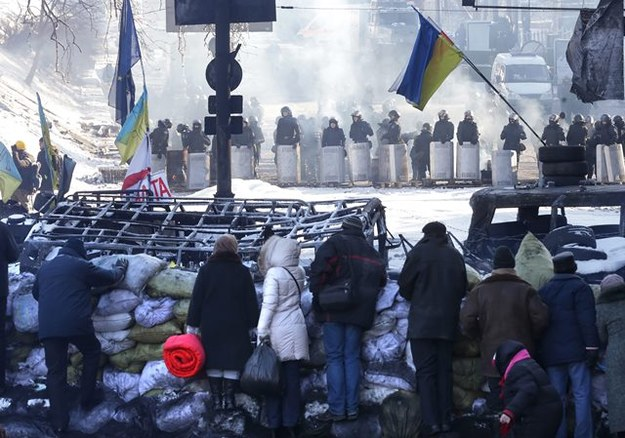 Ukraińcy protestują przeciwko rządowi /PAP/EPA/MAXIM SHIPENKOV /PAP