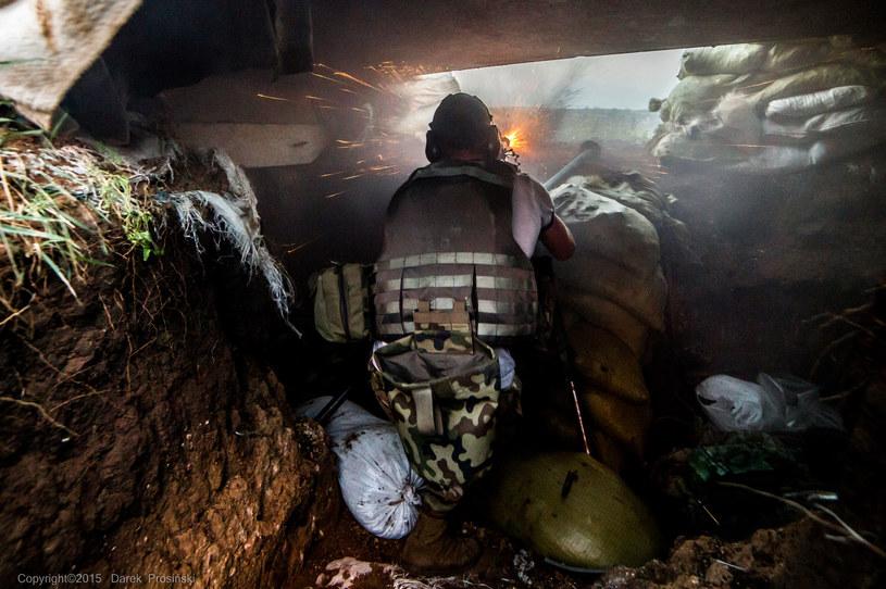 """""""Ukraińcy walili ze wszystkiego, co mieli pod ręką – z broni ręcznej, granatników, najcięższych karabinów typu DSzK""""... /Dariusz Prosiński /INTERIA.PL"""