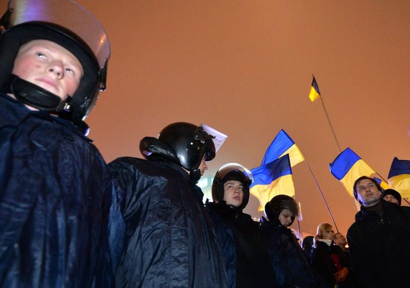 Ukraińcy znów na Majdanie /  afp /AFP