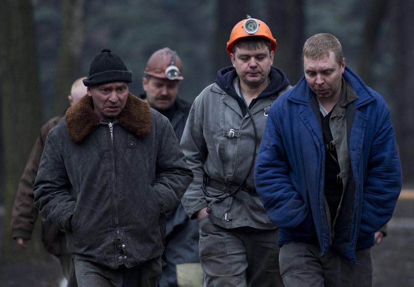 Ukraińscy górnicy martwią się o los kolegów /AFP