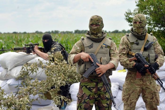 Ukraińscy żolnierze na linii frontu /AFP