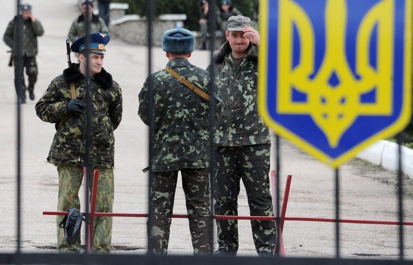 Ukraińscy żołnierze w bazie w Belbeku /AFP