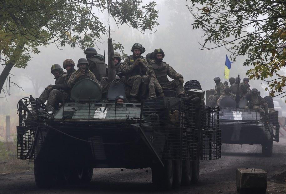 Ukraińscy żołnierze w Kramatorsku niedaleko Słowiańska /KONSTANTIN GRISHIN /PAP/EPA