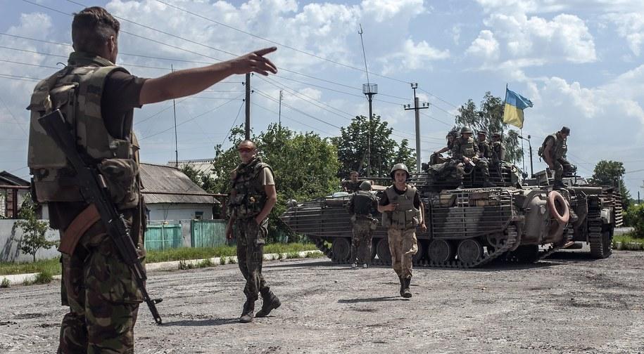 Ukraińscy żołnierze w regionie Doniecka /SERGEY POLEZHAKA /PAP/EPA