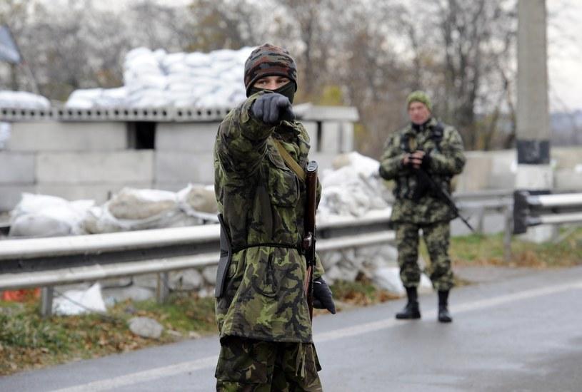 Ukraińscy żołnierze w regionie donieckim /AFP