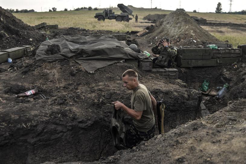 Ukraińscy żołnierze w rejonie Ługańska /AFP