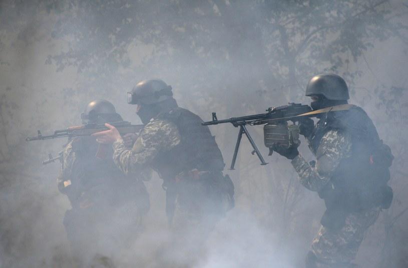 Ukraińscy żołnierze w Słowiańsku /AFP