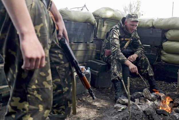 Ukraińscy żołnierze /NASTASIA VLASOVA /PAP/EPA