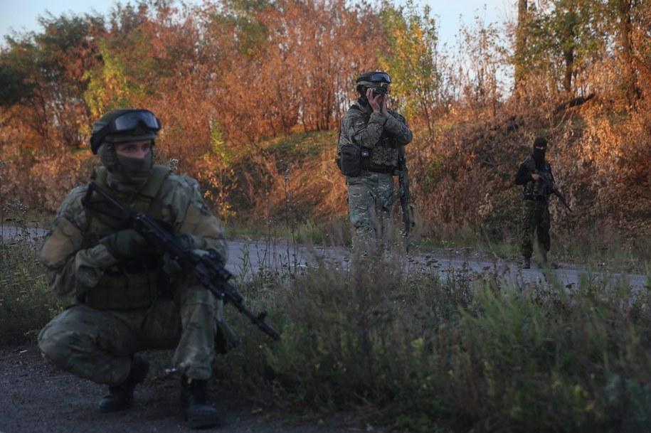 Ukraińscy żołnierze /KONSTANTIN GRISHIN /PAP/EPA
