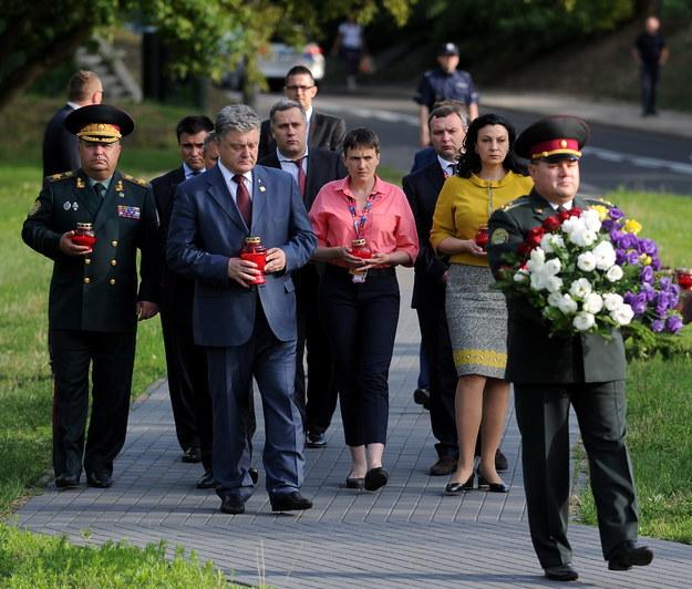 Ukraińska delegacja w Warszawie /Marcin Obara /PAP