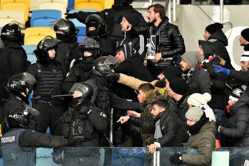 Ukraińska policja kontra fani Besiktasu /AFP