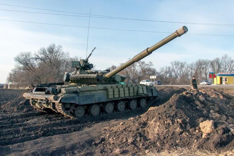 Ukraiński czołg /AFP