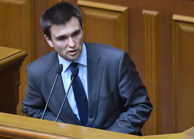 Ukraiński minister spraw zagranicznych Pawło Klimkin. /AFP