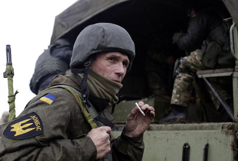 Ukraiński ochotnik w Donbasie /AFP
