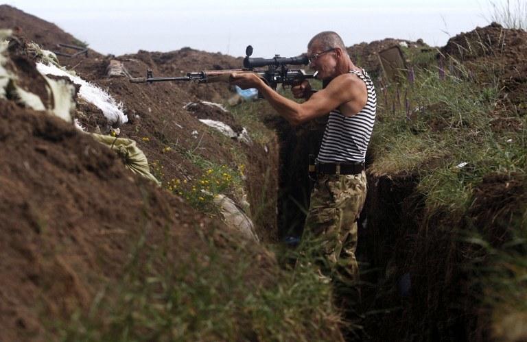 Ukraiński ochotnik walczący w Donbasie /ANATOLII STEPANOV / AFP /AFP