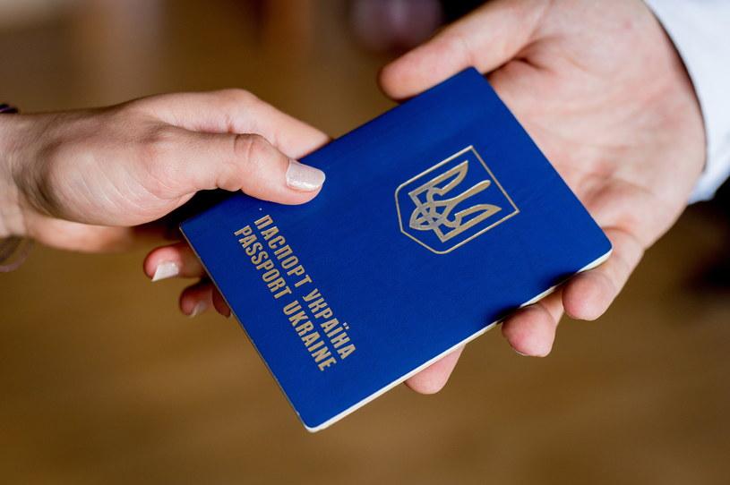 Ukraiński paszport /Agencja FORUM