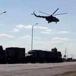 Ukraiński śmigłowiec ostrzelany koło Kramatorska