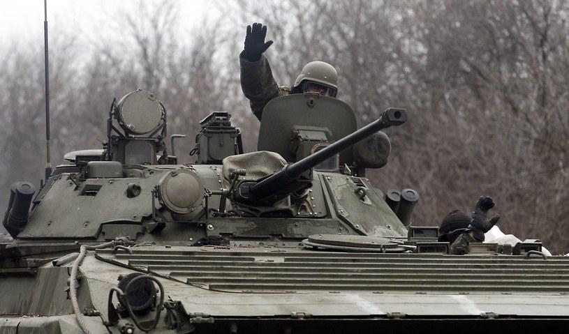 Ukraiński żołnierz w rejonie Doniecka /AFP