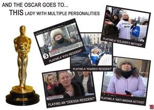 Ukraińskie media: Wynajęta aktorka odgrywa w rosyjskiej telewizji rolę pięciu różnych kobiet
