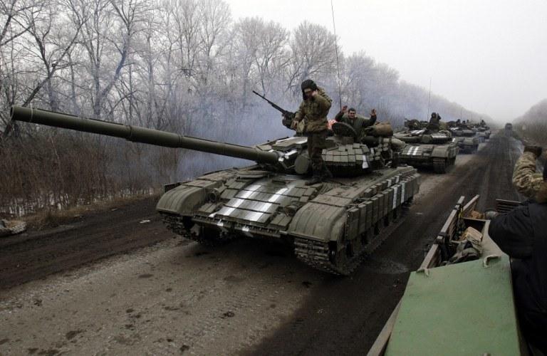 Ukraińskie siły w Debalcewie /AFP
