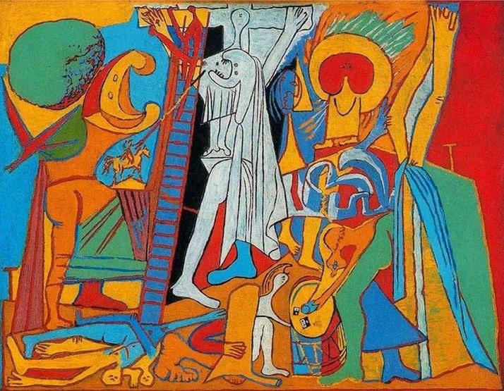 """""""Ukrzyżowanie"""" Pablo Picasso, r. 1930 /źródło: www.pablopicasso.org /INTERIA.PL"""