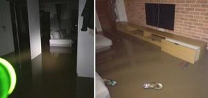 Ulewa i podtopienia w Zielonkach. Mieszkańcy układali barykadę z podłogi, ale przegrali z wodą