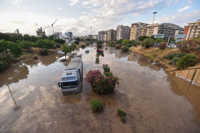 Ulewa w Palermo /Tullio Puglia /Getty Images