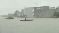 Ulewy nawiedziły Hanoi. Ulice stolicy Wietnamu zamieniły się w rwące potoki