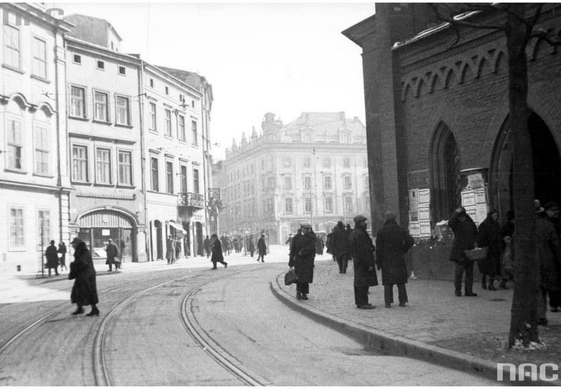 Ulica Franciszkańska w roku 1931 /Z archiwum Narodowego Archiwum Cyfrowego