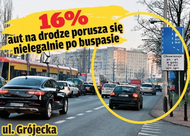 ulica grójecka /Motor