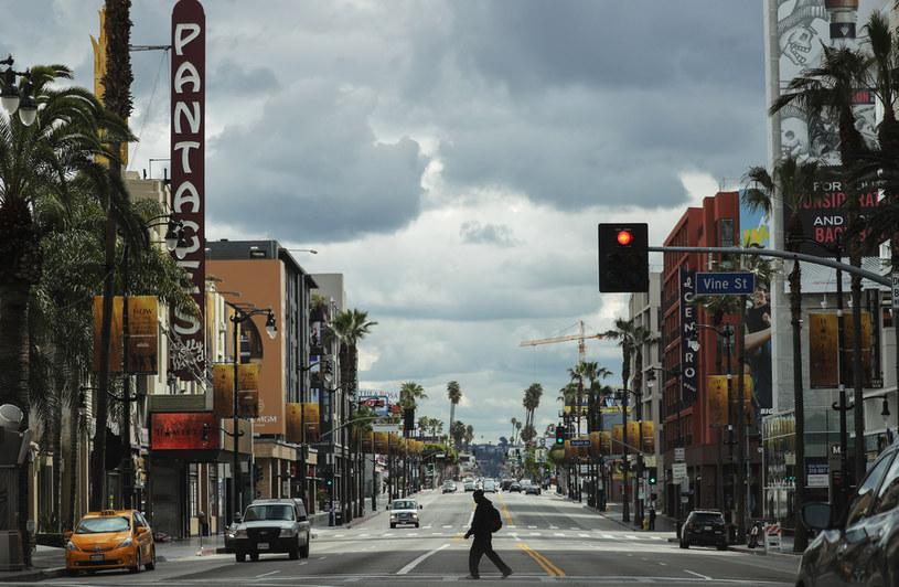 Ulica Los Angeles w czasie pandemii koronawirusa /Mario Tama/Getty Images/ /Getty Images