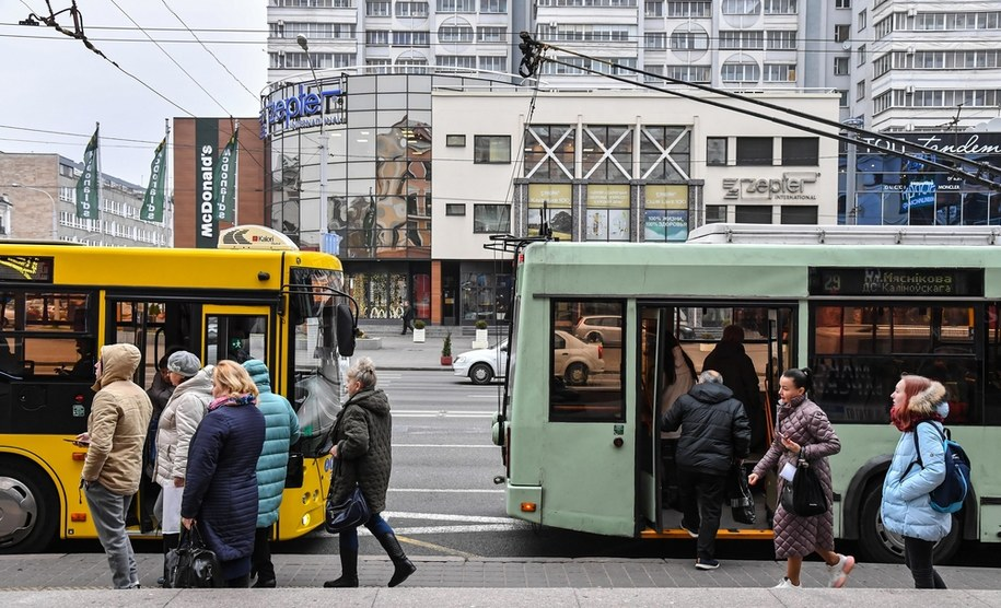 Ulica Niemiha w Mińsku na zdjęciu ilustracyjnym /Wojtek Jargiło /PAP