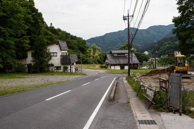 Ulica w malej miejscowości na północy wyspy Honsiu. /Mateusz Grochocki/East News /East News